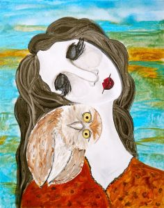 Goodnight Owl 8x10 Fine Art Print By Laura Carter