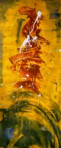 Legacy 20x50 Abstract Painting By Laura Carter