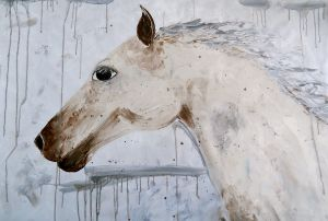 Horse 24x36 Acrylic Painting By Laura Carter