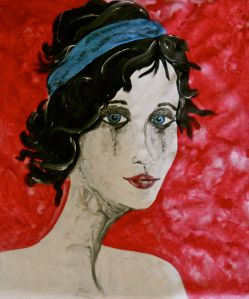 Gothic Portrait Painting Original Painting on Canvas by Laura Carter